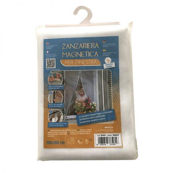 Mosquitera con imán BAZZZAR para ventanas 150x180 cm
