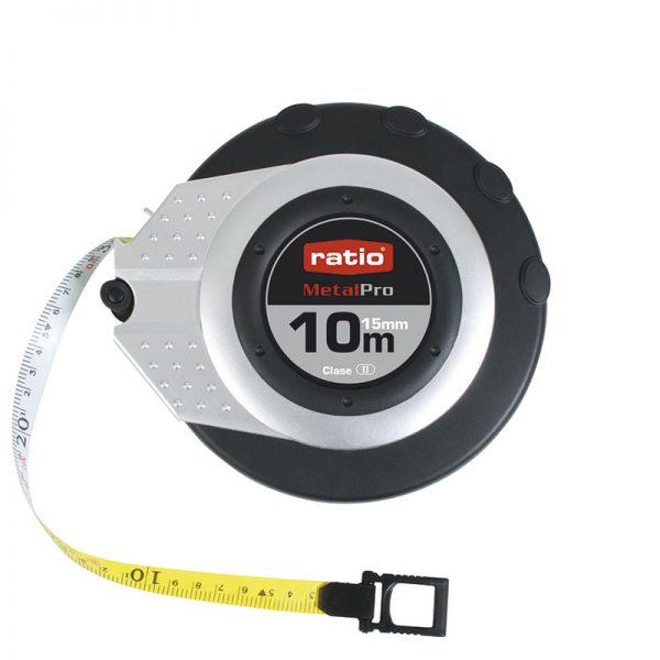 Cinta métrica fibra de vidrio bicolor RATIO MetalPro 15 mm
