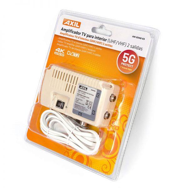 Amplificador AXIL señal TV 2 salidas filtro 5G