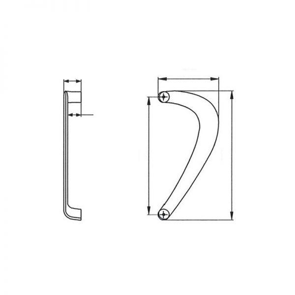 Tirador puerta ALMA modelo Austral. 2 unidades